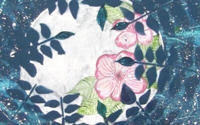 Full Moon Art and The Mixed Media Botanical Mandalas Class is Live!