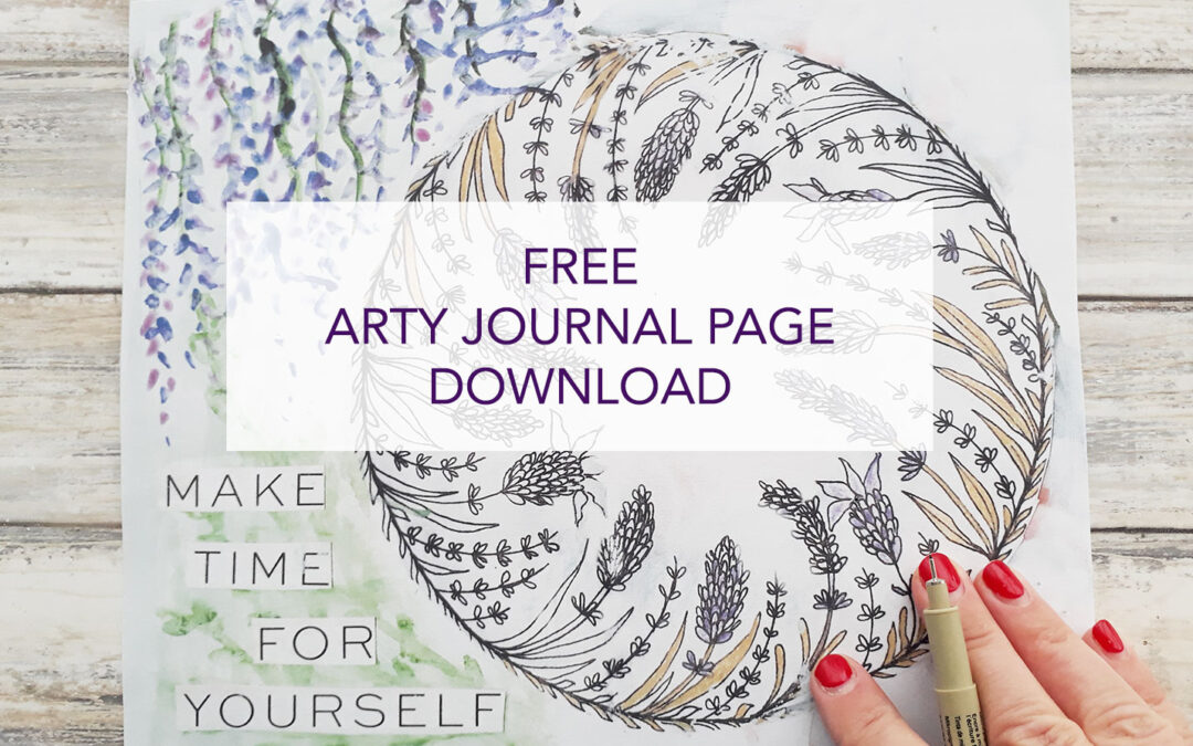 Free Arty Journal Page Download – Spring Clean Your Life