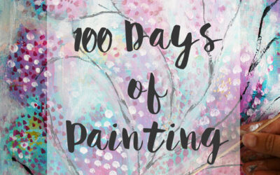 100 days of painting and precious moments in nature