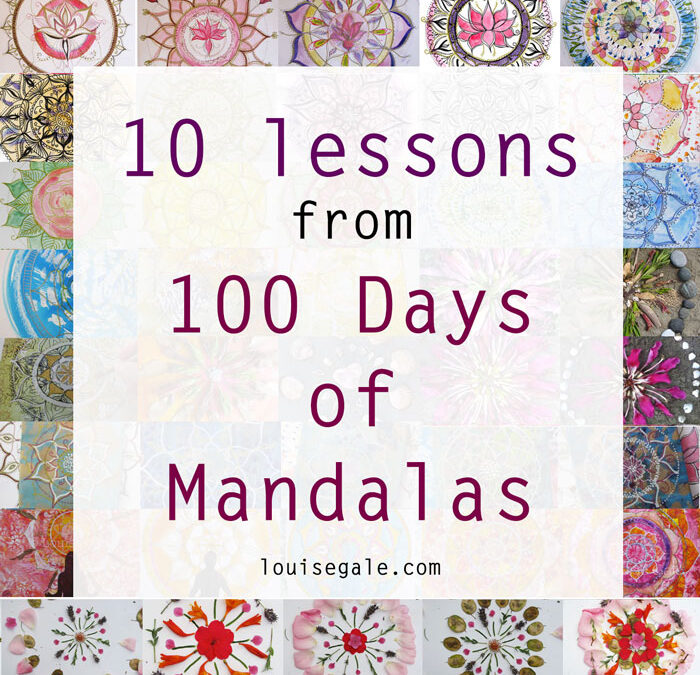 10 lessons from the 100 days of mandalas project