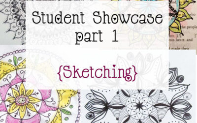 Mandala Art Class Student Showcase March 2015 Class part 1 {mandala doodles}