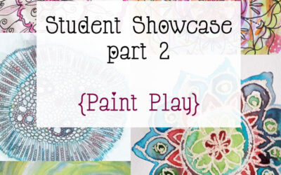 Mandala Class Student Showcase March 2015 Class part 2 {Paint Play}