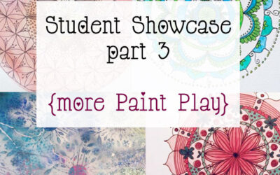 Mandala Class Student Showcase March 2015 Class part 3 {more Paint Play}