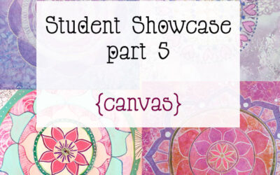 Mandala Class Student Showcase March 2015 Class part 5 {Final paintings}