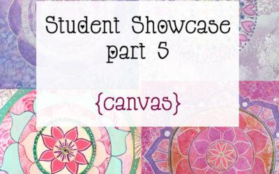 Mandala Class Student Showcase March 2015 Class part 5 {Final paintings}