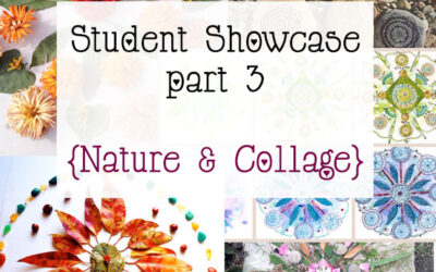 Mandala Class Student Showcase Oct 2014 Class part 3 {Collage & Nature}
