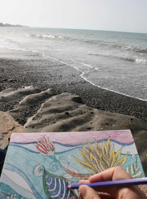 August Break: Drawing at the Beach