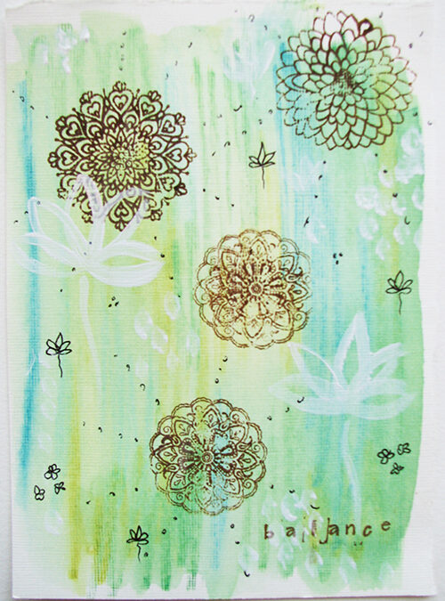 June 2013 Creative Color Challenge wrap up {green}