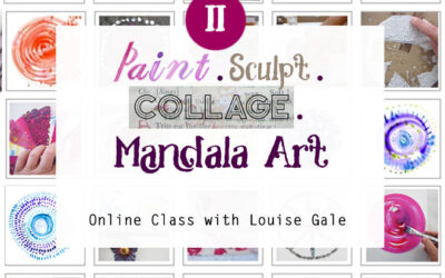 A peek inside the new Mandala II: Paint, Sculpt, Collage Mandala Art class
