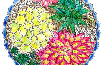 Succulent party {#MondayMandala}